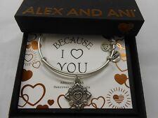 Alex and Ani Because I Love You GODMOTHER III Bracelet Rafaelian Silver NWTBC