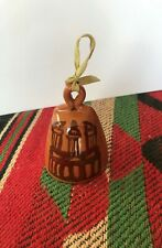 Christmas bell hand made of pottery