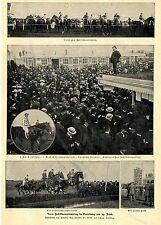Pferderennen * Vom Jubiläumsrenntag in Hamburg *  Bilddokument von 1902