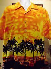 Maui Maui Men's Palm Trees and Classic Car Hawaiian Shirt Large