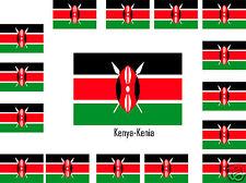 Assortiment lot de25 autocollants Vinyle stickers drapeau Kenya-Kenya-Kenia