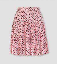 Cath Kidston Strawberry Print Mini Skirt Size 12 NEW.