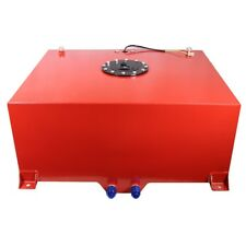 "10 Gallon OEM Fuel Cell Tank Polished Aluminum 16.5""(L) x16.5""(W)x9.25""(H) Red"