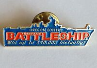 Oregon Lottery Instant Battleship Pin Badge Military Rare Vintage (D6)