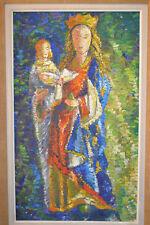 Adrien SENECHAL (1895-1974) Tableau Huile sur panneau signé Vierge à l'enfant