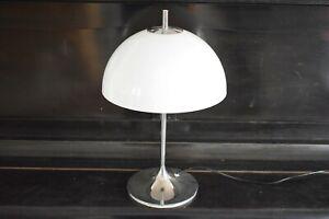 70er Schreib/Nacht Tisch-Lampe Frank J. Bentler für WILA Pilz Tulpenfuß mushroom