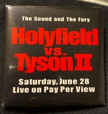 HOLYFIELD VS TYSON II BUTTON