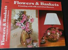 Vintage Guide Book to Floral Arrangements Using Baskets, Brooms, Straw Hats
