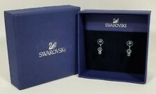 Authentic Swarovski Slake Dot Pierced Earring Jackets BLUE Crystal NIB 5201096
