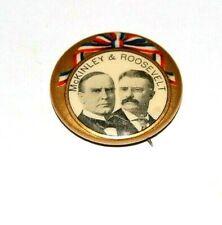 1900 WILLIAM MCKINLEY 1.25 TEDDY THEODORE ROOSEVELT pin pinback button political