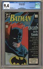 "Batman 426 (CGC 9.4) White p; ""A Death in the Family"" part 1; DC; 1988 (j#5967)"