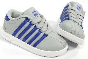 K-Swiss toddler Classic VN gray shoes- 6- NEW- classic leather baby sneakers