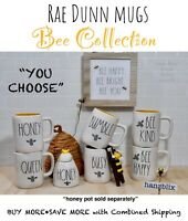 "Rae Dunn Mug Bee Collection HONEY QUEEN Crown Bee ""YOU CHOOSE""🐝NEW HTF🐝'20-'21"
