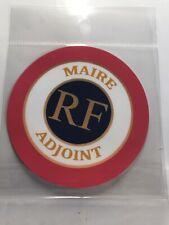 Autocollant stickers  Maire Adjoint tricolore mairie RF République Française