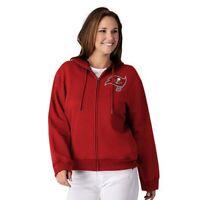 NFL Tampa Bay Buccaneers Officially Licensed Women's Full Zip Hoodie G-III Red
