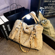 Winter Casual Women's Faux Fur Handbags Large Messenger Shoulder Bags Satchel YJ