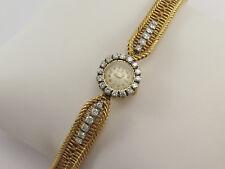 Rare JAEGER LeCOULTRE 18K GOLD DIAMOND LADIES BACK WIND BRACELET WATCH