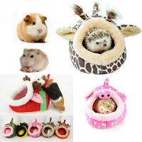 Winter Fleece Guinea Pig Hamster Bed House Warm Squirrel Hedgehog Cage Nest