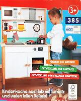 Playland Holz Spielküche Kinderküche Spiel Aufsatz Zubehör Kochtopf Pfanne NEU