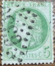 Sello Francia usado 1871 5 C Yvert 53