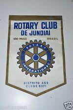 RARE Vintage De Jundiai Brasil Brazil Rotary International Club Banner Flag