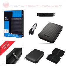 HARD DISK ESTERNO 2TB 2,5 MAXTOR NERO USB 3.0 HX-M201TCB CON CUSTODIA