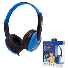 GROOV-E KIDZ DJ STYLE STEREO OVER EAR HEADPHONES FOR KIDS - BLUE/BLACK - GV590BB