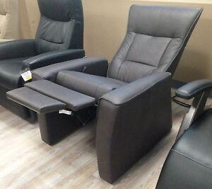 Fjords Ulstein Zero Anti Gravity Recliner Chair NL Havana Dark Brown Leather