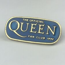 More details for queen - official genuine fan club blue enamel pin badge - 1994 - rare