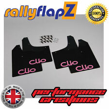 Rallyflapz Renault Clio Mk3 (05-12) Barro Solapas mudflaps Logo Negro b-pink 3 Mm De Pvc