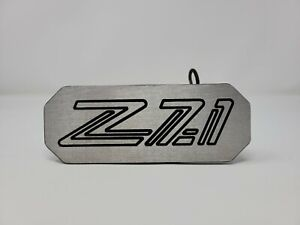 Chevrolet Z71 Logo 2 inch Tow Hitch Cover for Truck Silver with Pin