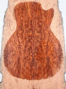 5A Cloud Quilted Exotic Rosewood Hardwood Electric Bass Top Set Luthier Supply
