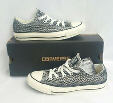 97c37873fc05 Converse CTAS Ox Low Black Egret White Velvet Zebra Print Shoes Womens Size  5