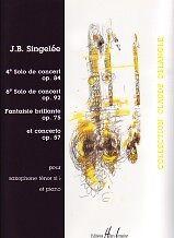 SINGELEE 4 PIECES DE CONCERT TENOR SAXOPHONE
