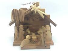 Bajalia Olive Wood Nativity Scene - Holy Family Table Top Decoration - Christmas