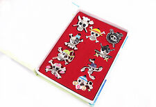 One Piece Set 9 Badge Pins Metal Cosplay Luffy Robin Zoro chooper New in Box