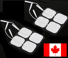 8 Pack Tens 3000 7000 Electro Estim Pads Electrodes Massage Therapy Pin Style
