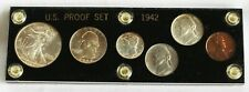 1942 6 Coin Proof Set 1c (2) 5c 10c 25c 50c 4 Silver Coins Acrylic Holder