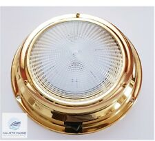 LED Dome light 12V Brass Interior 170MM Base /Boat / Yacht