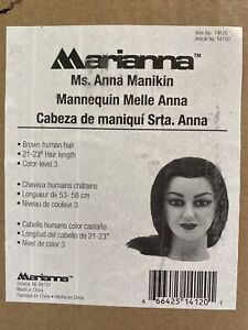Marianna Ms Anna Manikin Brown Human Hair Color Level 3 NIB