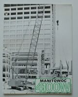 MANITOWOC 4100W Crane 1972 dealer brochure catalog - English - USA