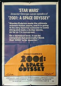 2001: A SPACE ODYSSEY Autographed x 2 stars ORIGINAL AUST ONE SHEET MOVIE POSTER