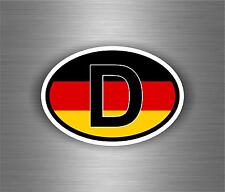 Sticker car moto motorcycle vinyl code country oval D GERMANY flag auto