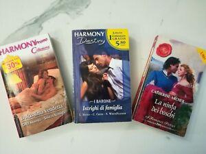 Lotto 3 romanzi rosa / Harmony + romanzo storico (totale 6 storie all'interno)