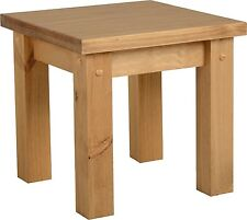 Seconique Tortilla Distressed Waxed Pine Lamp Table
