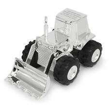 Personalised Silver Plated Tractor Moneybox Gift Boy or Girl Child Christening