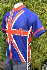 PERFORMACE GREAT BRITAIN UNION JACK CYCLING JERSEY US M'S SZ XL