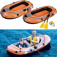 Bestway Inflatable Fishing Rowing Boat Raft Canoe Kayak Dinghy With Paddle Oars