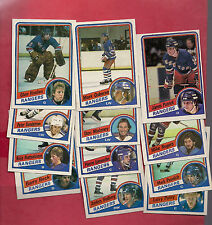 1984-85 TOPPS NY RANGERS  CARD LOT