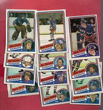 1984-85 TOPPS NY RANGERS  CARD LOT